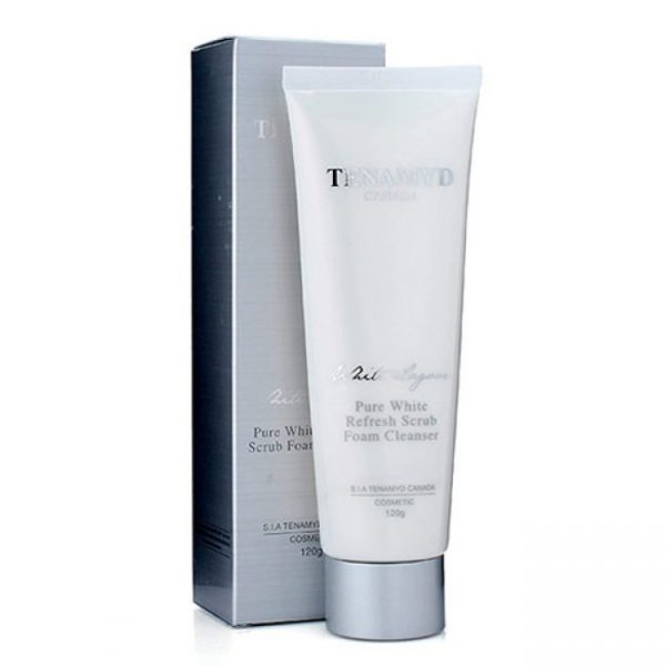 Tenamyd Pure White Refresh Scrub Foam Cleanser 2